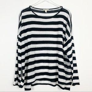 Eileen Fisher | Black / White Linen Light Sweater